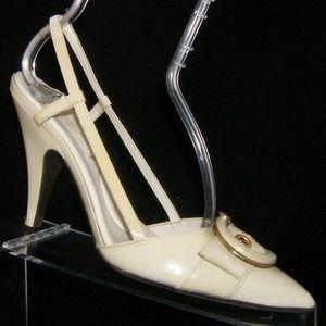 BCBGmaxazria cream pointed slingback heels 7.5B 37